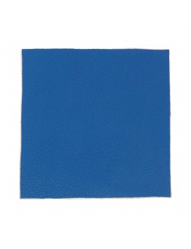 Carré cuir 8x8 cm bleu cyan
