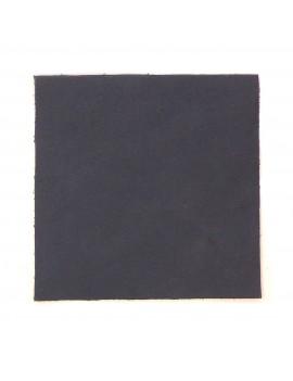 Carré cuir 8x8 cm bleu marine-gris lisse