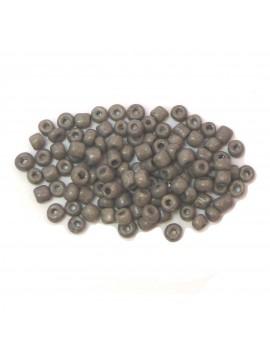 Rocailles 6/0 - 4 mm gris mat - 15grs