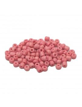 Rocailles 6/0 - 4 mm rose mat - 15grs