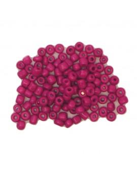 Rocailles 6/0 - 4 mm fuschia mat - 15grs