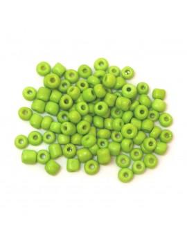 Rocailles 6/0 - 4 mm vert mat - 15grs