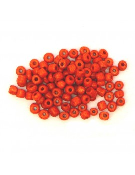 Rocailles 6/0 - 4 mm orange mat - 15grs