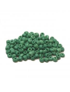 Rocailles 6/0 - 4 mm vert d'eau mat - 15grs