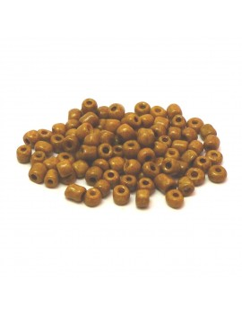 Rocailles 6/0 - 4 mm camel mat - 15grs