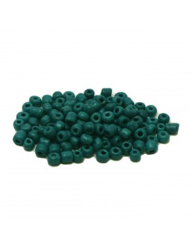 Rocailles 6/0 - 4 mm turquoise mat - 15grs