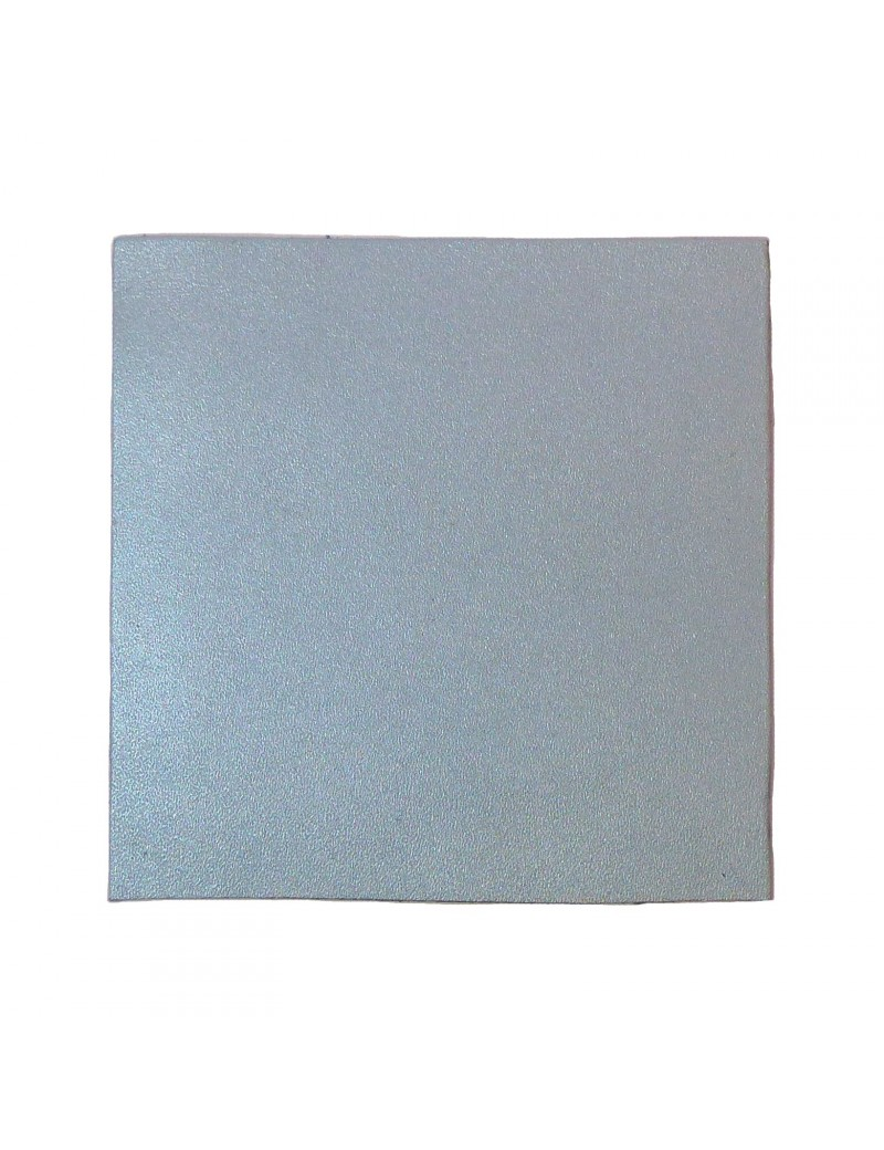 Carré cuir 8x8 cm bleu poudré nacré