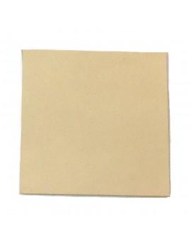 Carré cuir 8x8 cm beige clair
