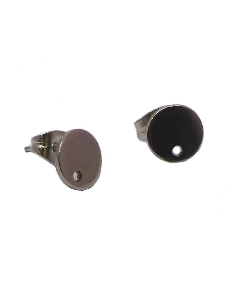 Boucles d'oreilles sequin 8 mm