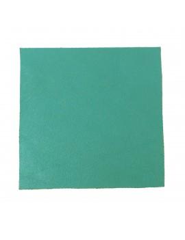 Carré cuir 8x8 cm bleu turquoise