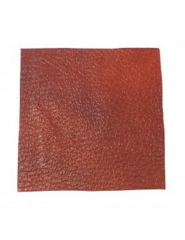 Carré cuir 8x8 cm marron chocolat