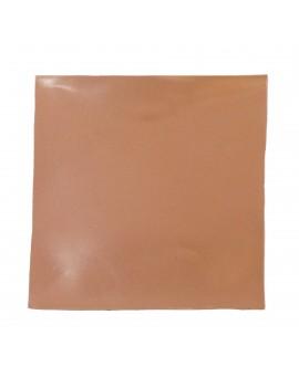 Carré cuir 8x8 cm rose-taupe effet vinyle