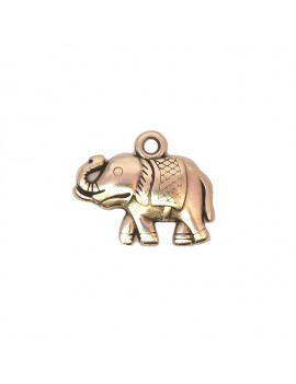 Elephant argent vieilli 14x18 mm