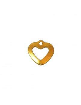 Coeur acier inox doré 11x11 mm